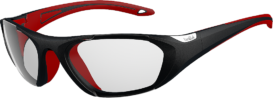 Bolle Baller 59 Unisex Clear Sunglasses - Red & Black