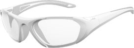 Bolle Baller 60 Unisex Clear Sunglasses - White & Grey