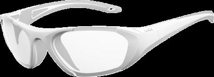 Bolle Baller 60 Unisex Clear Sunglasses - White & Grey