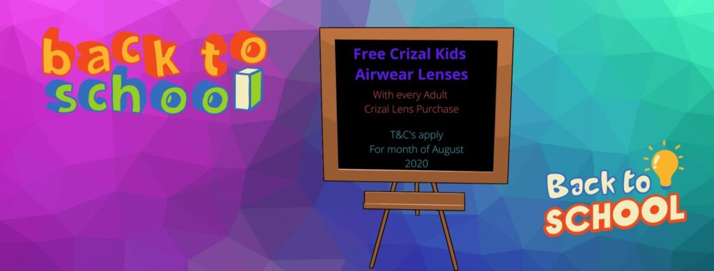 Free Crizal Kids Airwear Lenses